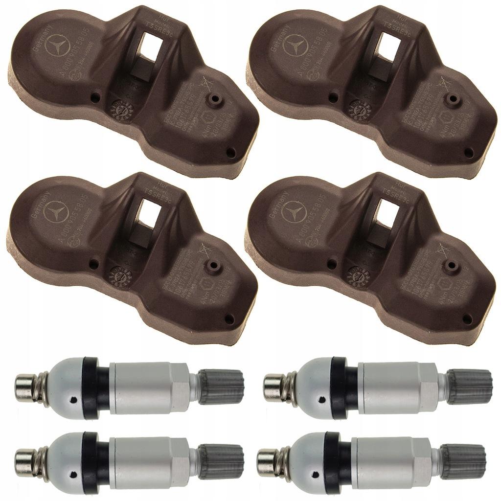 4 Czujniki ciśnienia TPMS MERCEDES CLK 315 MHz OEM