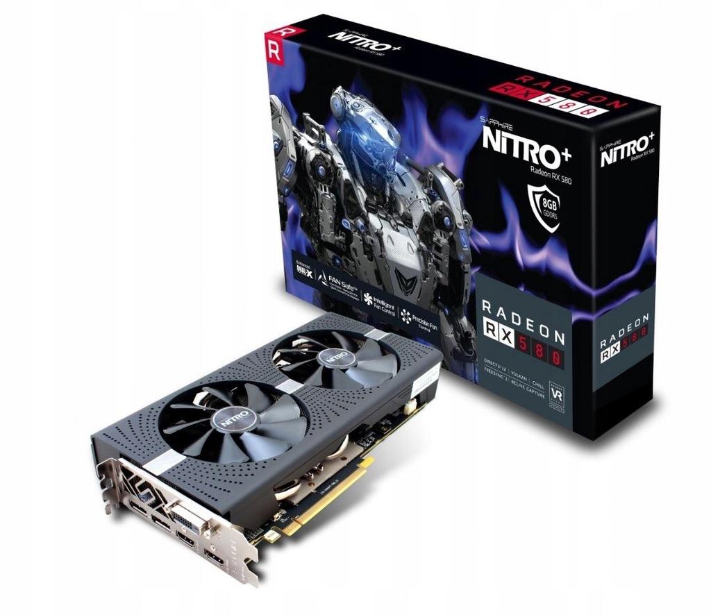 SAPPHIRE Radeon RX580 NITRO+ OC, 4GB -od 1zł