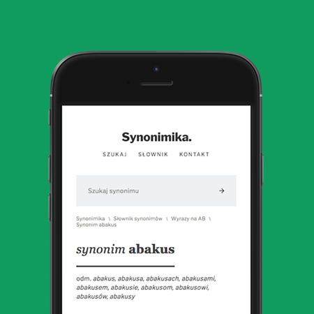 SYNONIMY - Gotowa strona WWW pod Google AdSense