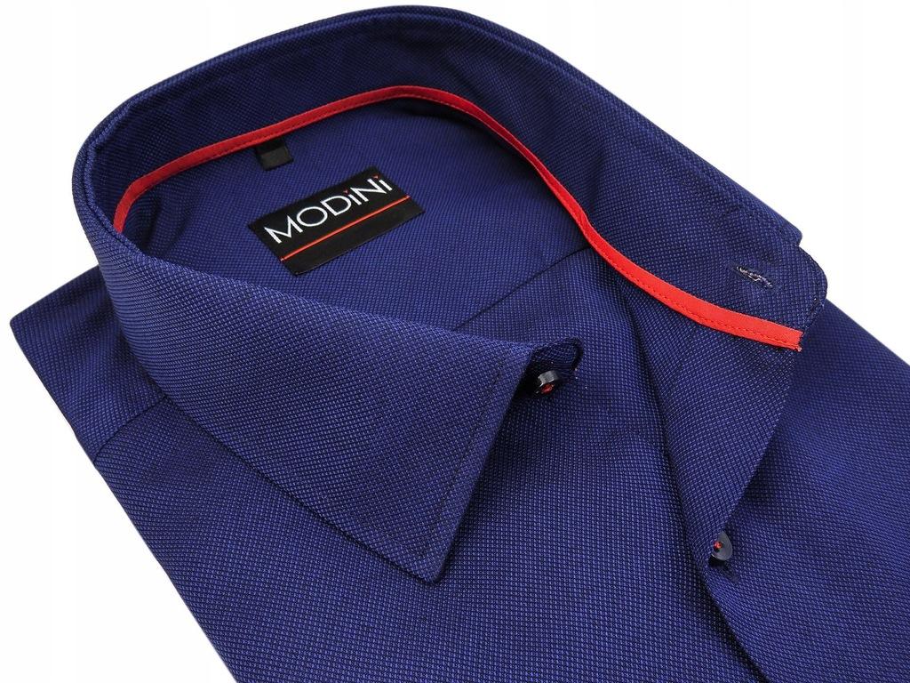 Granatowa koszula męska MODINI 176-182 43-SLIM MA4