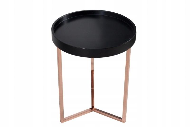 INVICTA stolik MODUL 40 czarny - miedziana podstaw