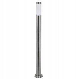 Słupek ogrodowy 100cm satyna INOX PO IP44 latarnia
