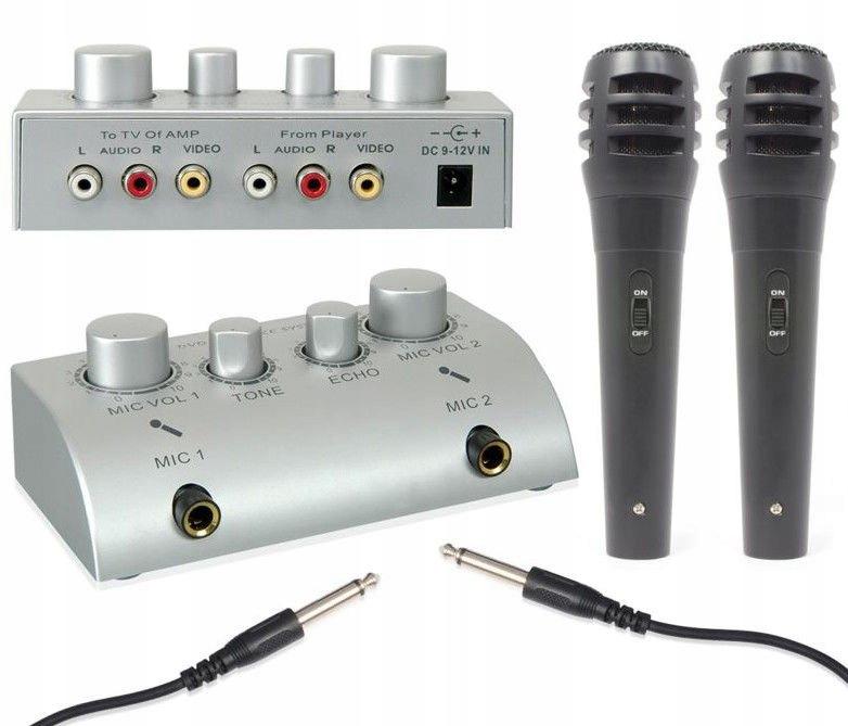 Zestaw do Karaoke z mikrofonami Vonyx