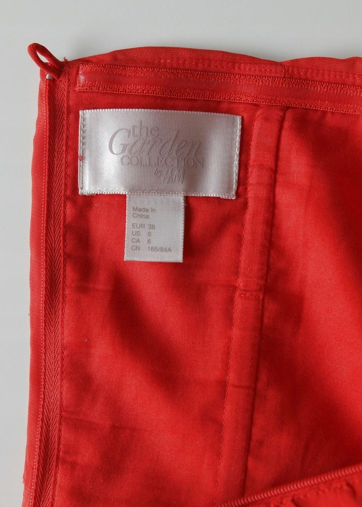 Sukienka H&M garden czerwone róże, unikat! r36 7707185264