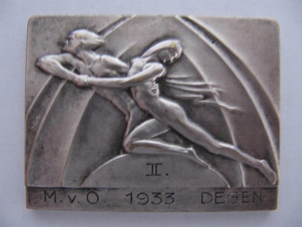 Stara plakieta- medal . Sygnatura E. ORTH