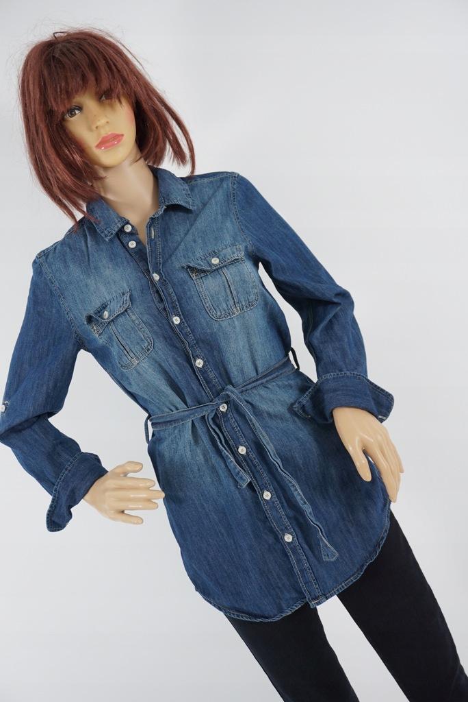 H&M koszula jeansowa z paskiem r 158