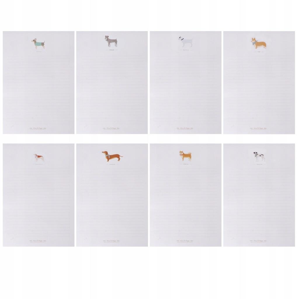 8 biel / 80 szt. Listów z papieru biurowego Śliczn