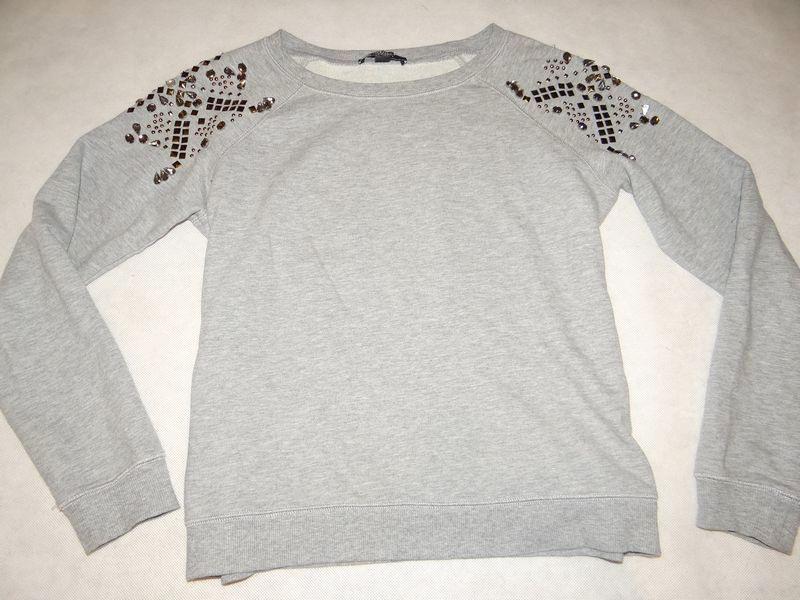 *MANGO modna bluza cekiny dżety okazja 36/38