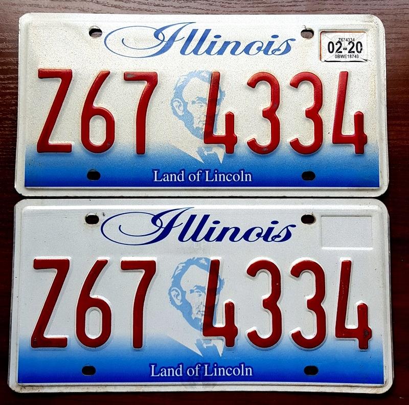 Tablice Rejestracyjne Usa Illinois 2020 Para 8406690653 Oficjalne Archiwum Allegro