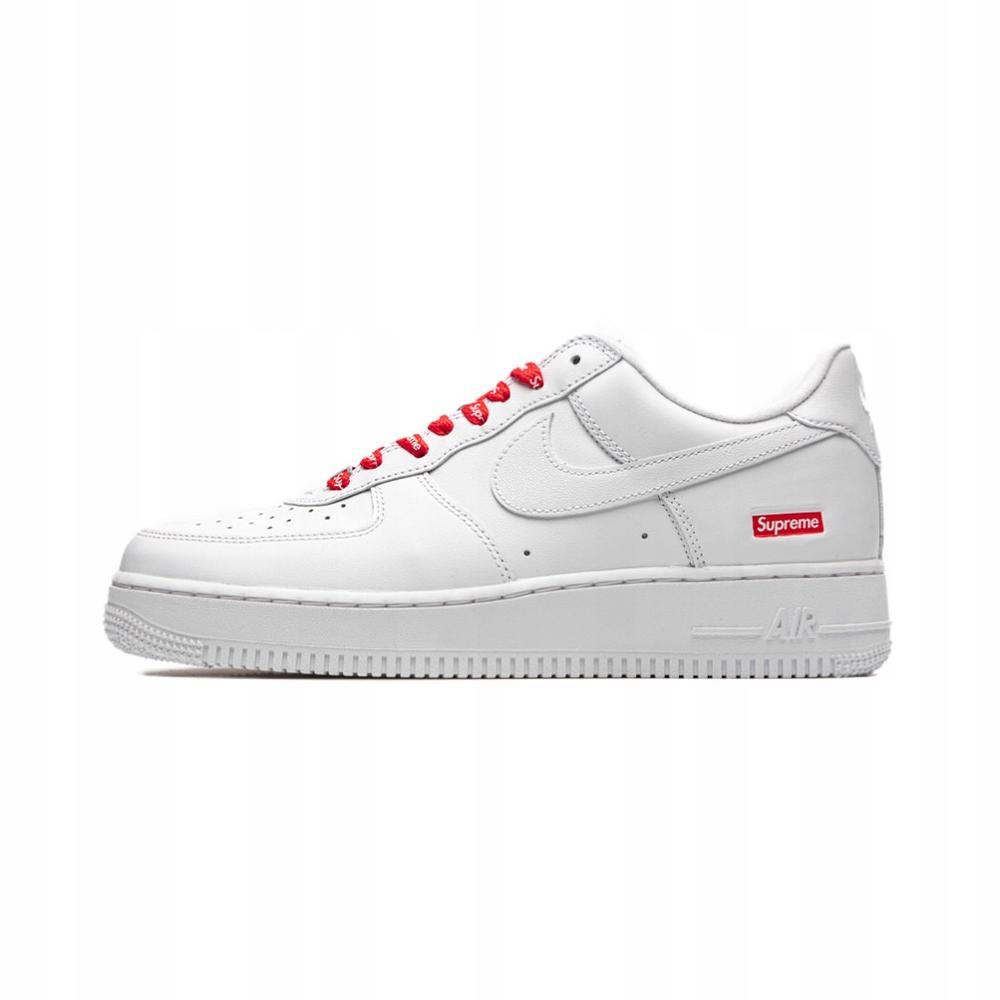 Buty Supreme X Nike Air Force 1 Low White R 38 9070743796 Oficjalne Archiwum Allegro