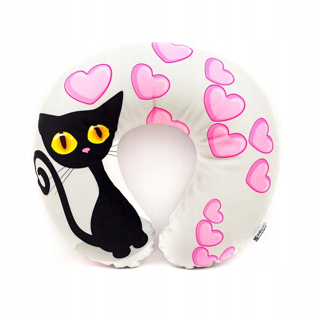 Rogal zagłówek podróżny z kotem Black Cat