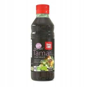 Sos Sojowy Tamari 25% Mniej Soli Bezgl.250ml Lima