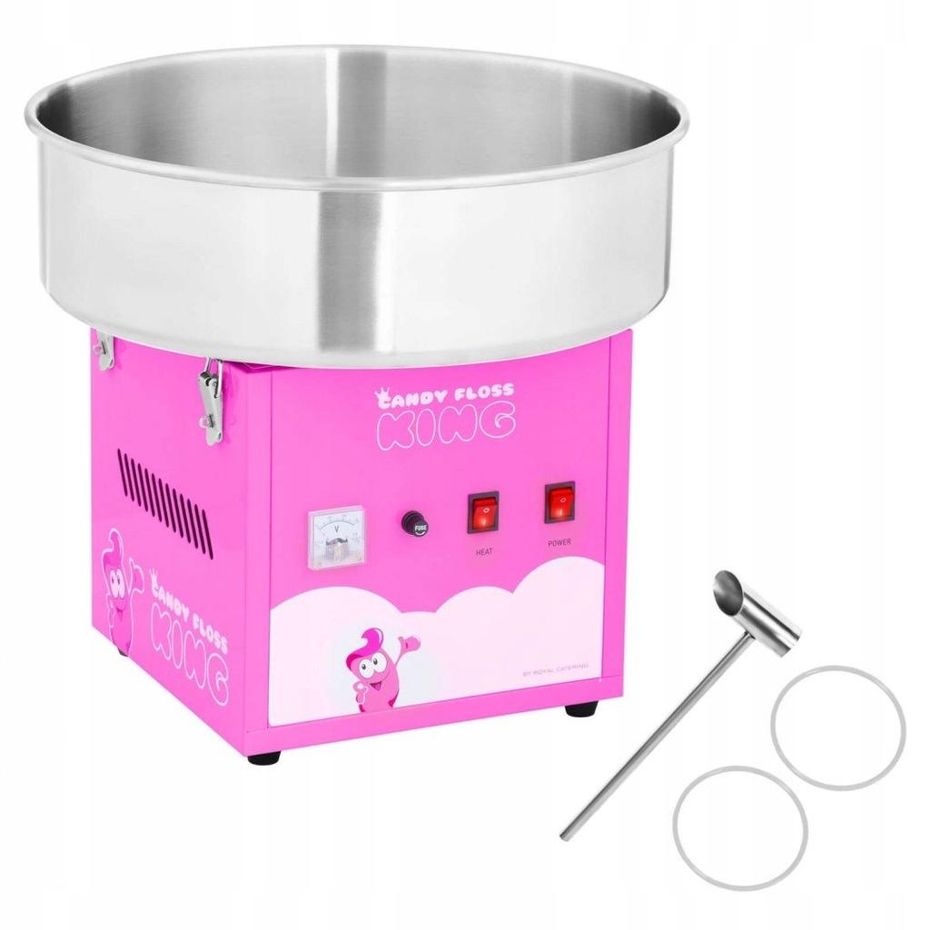 Maszyna do waty cukrowej różowa śr. misy 520mm + m