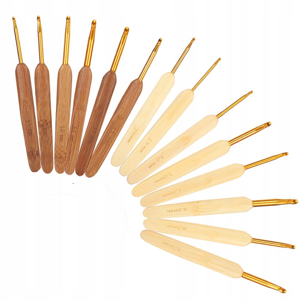 złota główka szydełko z bambusa