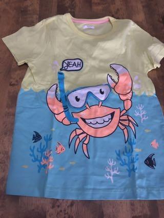 Wesoły krab r.122 T-shirt