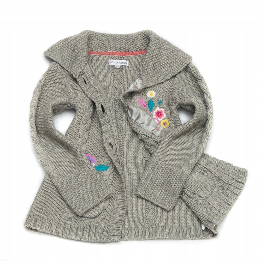 CM362 Rozpinany haftowany sweterek M&S 122