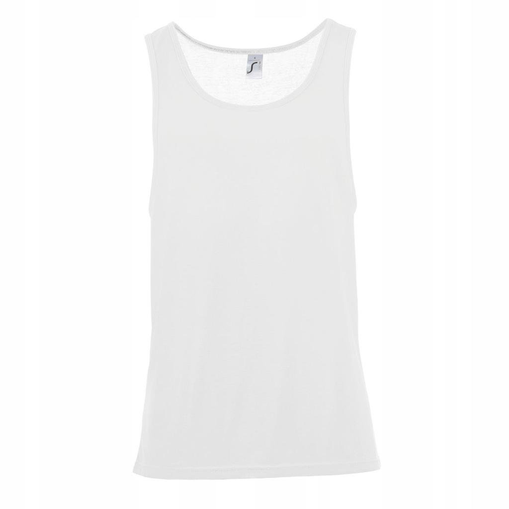 SOLS - koszulka bezrękawnik unisex top L Biały