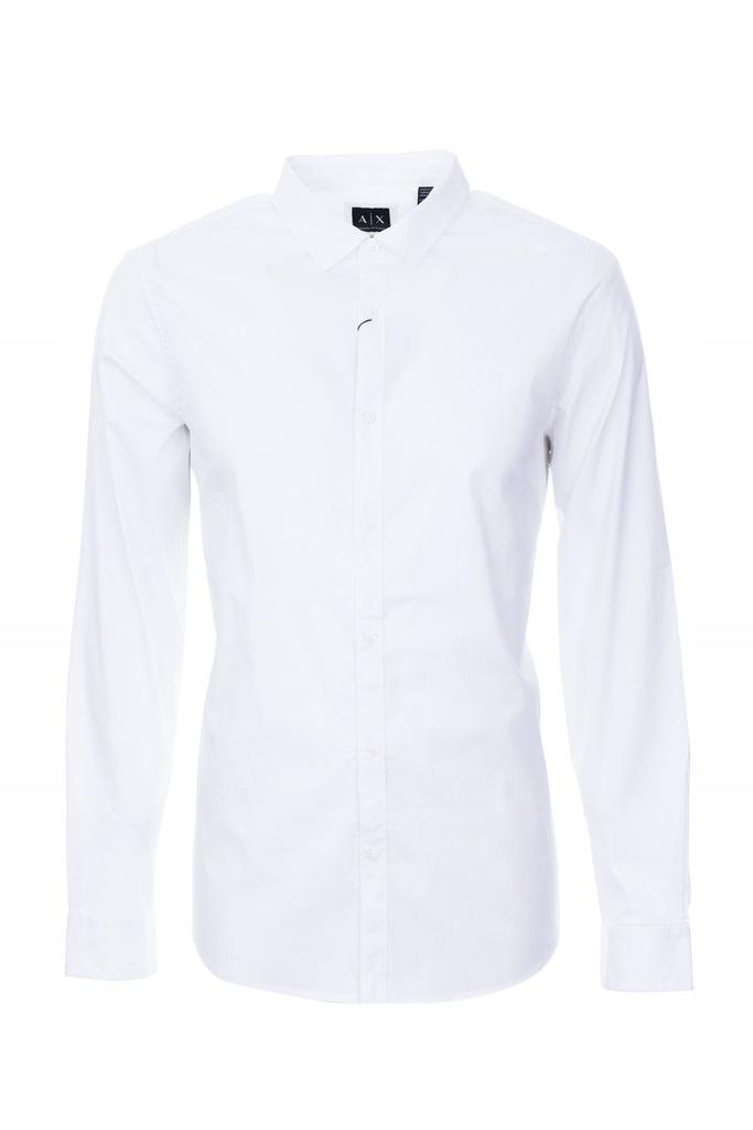 Armani Exchange Koszula męska Slim Fit biała r. L