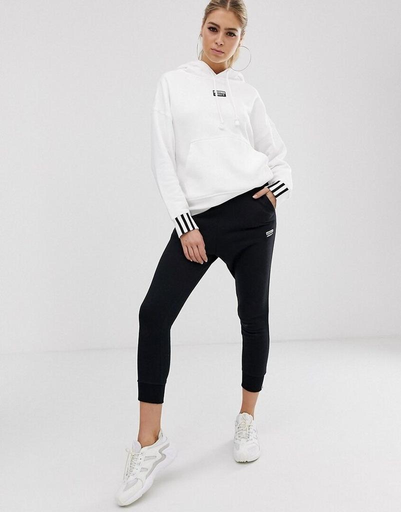 adidas – originals – ryv – biała bluza z kapturem