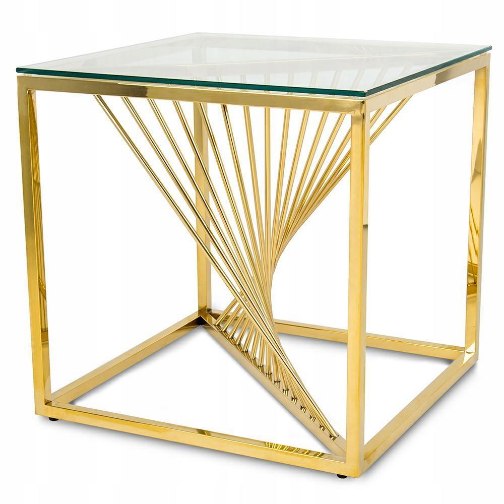 Stolik kawowy Laine Gold 55 cm