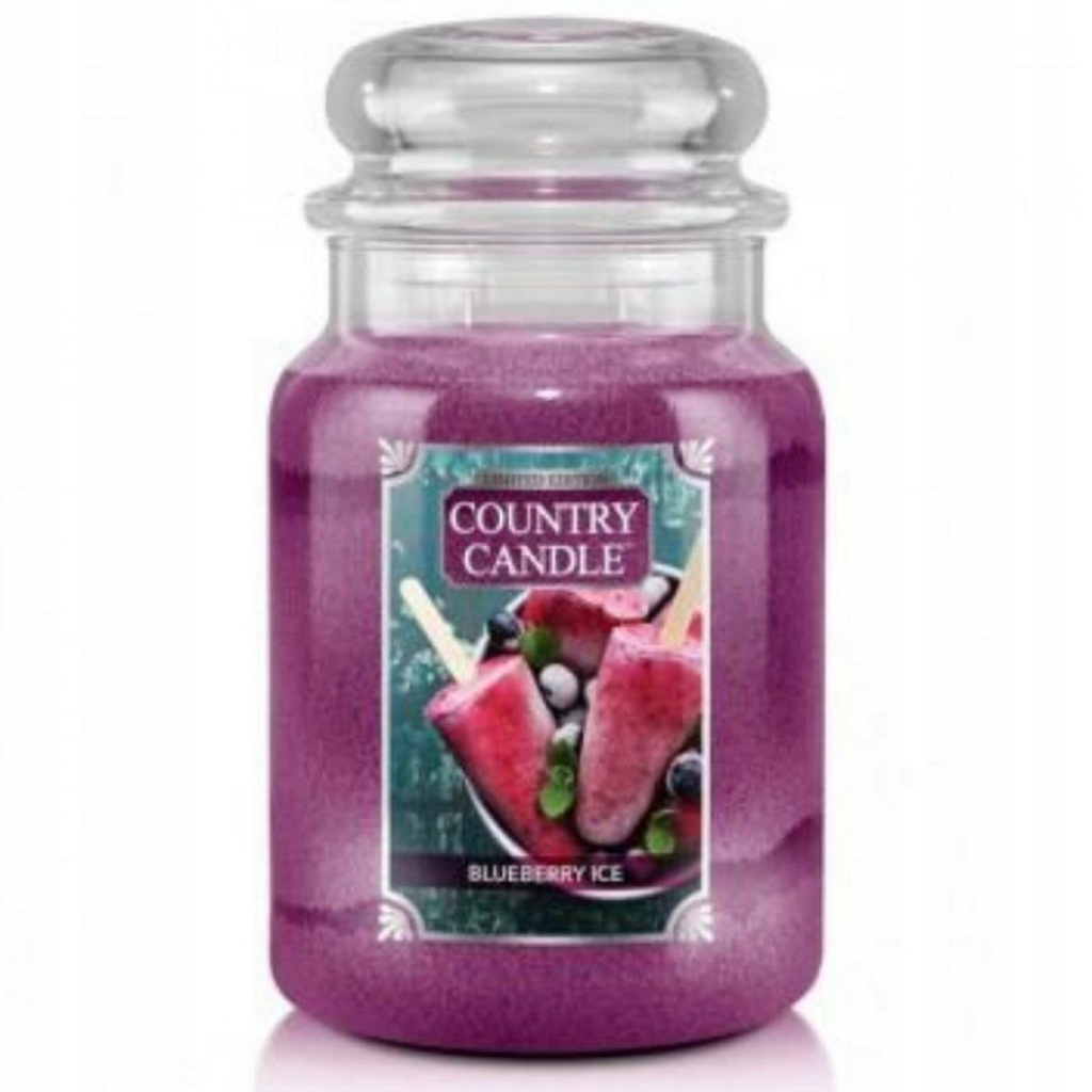 Country Candle - Blueberry Ice - Duży słoik (680g)