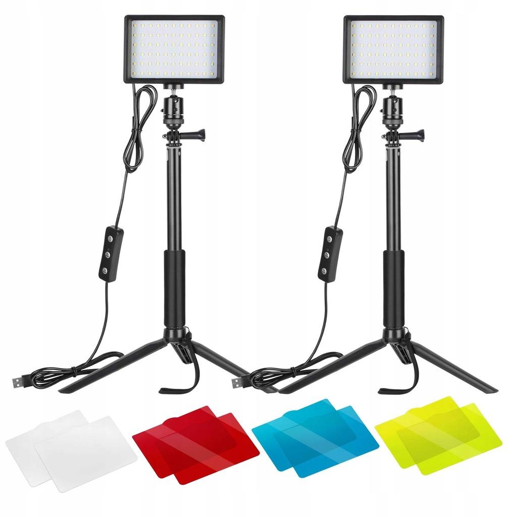 Ściemniana lampa fotograficzna Neewer 2x USB LED