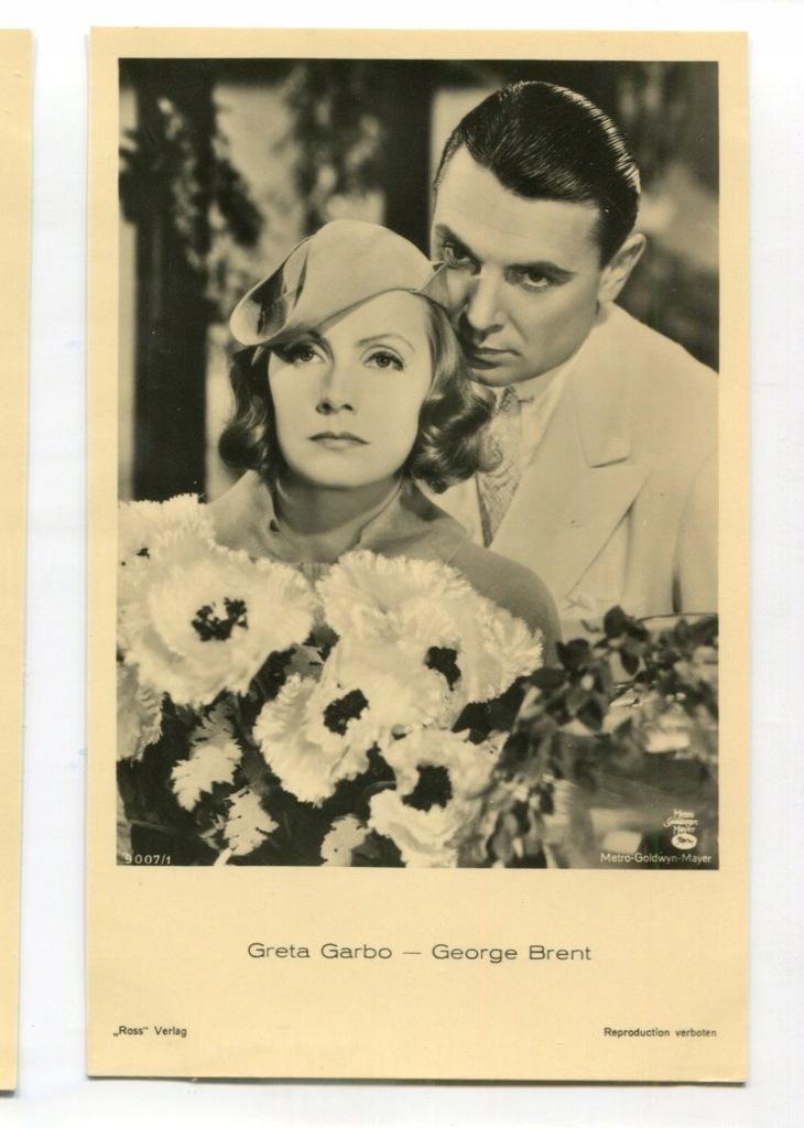 Greta Garbo Kino Film Aktorka Foto Pocztówka 36