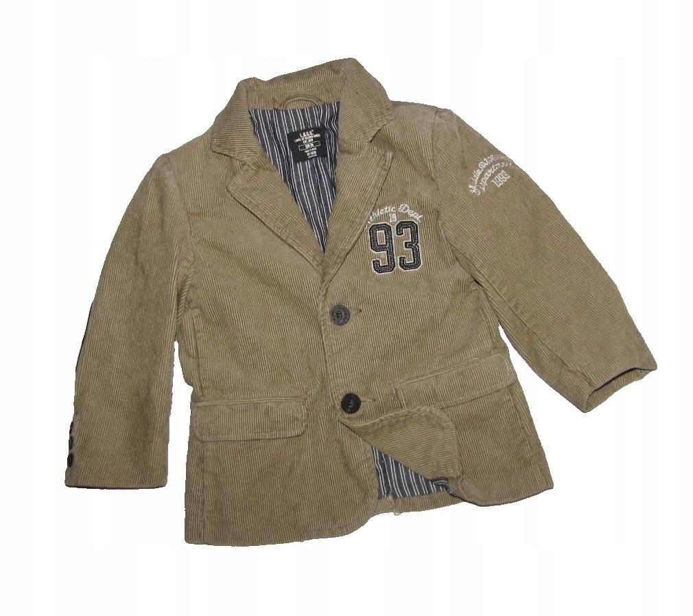 H&M beżowa sztruksowa marynarka r 98 2/3 lata