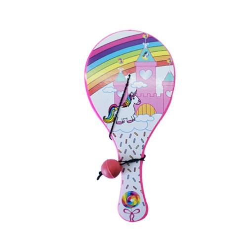 LG Imports wiosło z kulą jednorożca 12 cm różowy