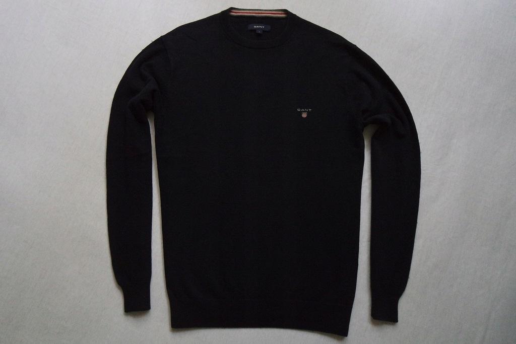 GANT sweter sweterek granatowy logowany WEŁNA____L