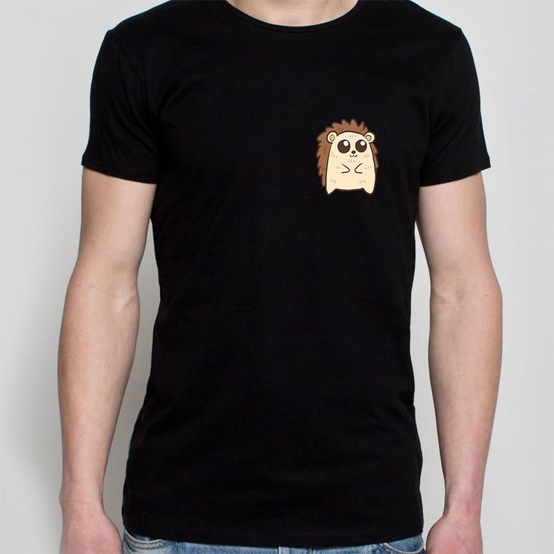 koszulka czarna - jeżyk