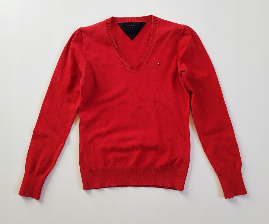 TOMMY HILFIGER Sweter czerwony M- ka