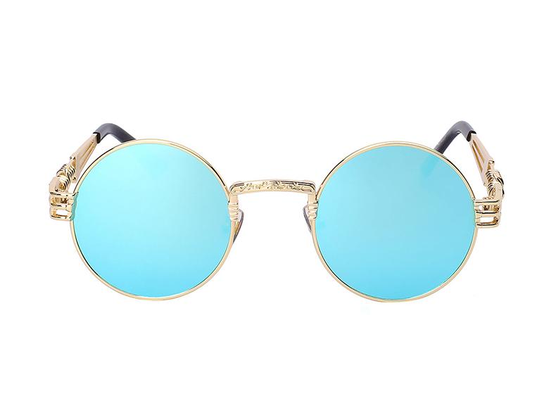 Okulary Przeciwsłoneczne Niebieski Okrągłe Lenonki
