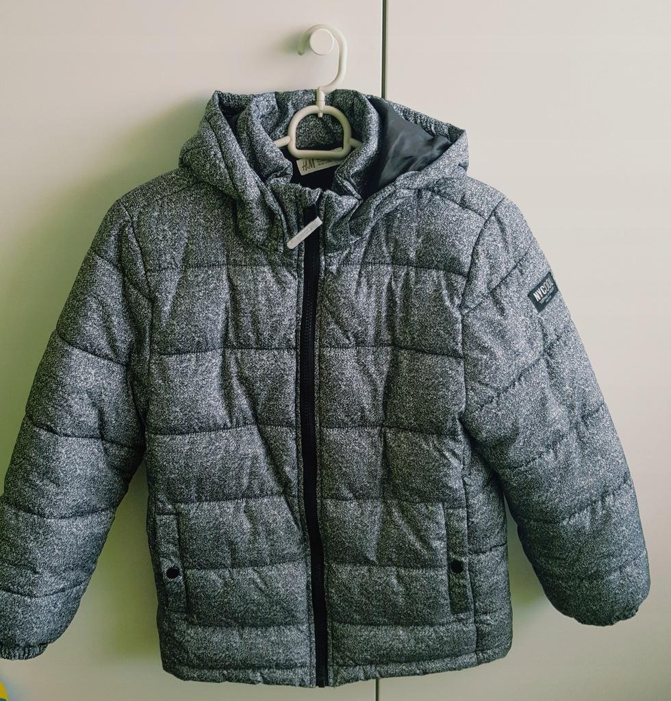 Kurtka H&M ocieplana zimowa r.140
