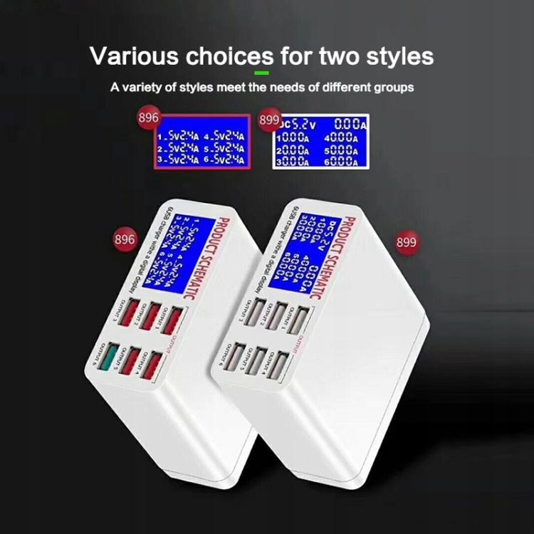 Szybka ładowarka 40W QC 3.0 6 portów USB LED 8359799338