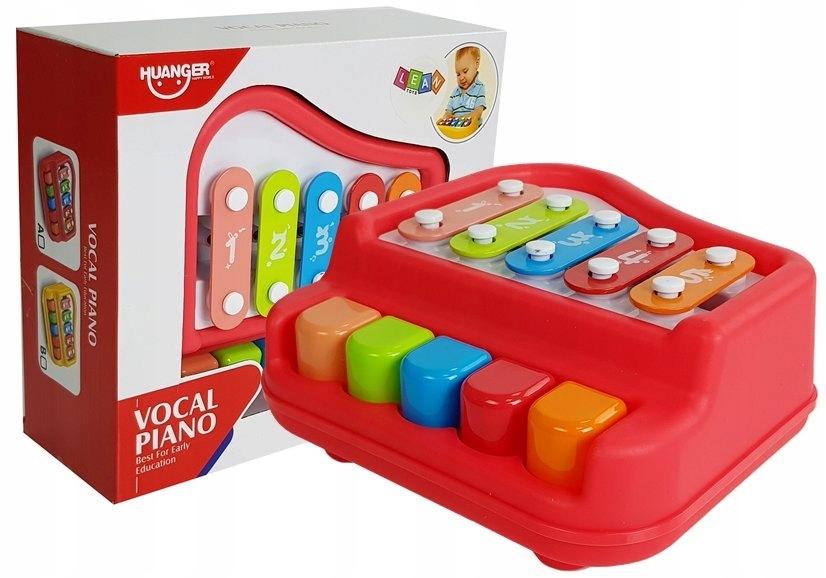 Pianinko Cymbałki Czerwone Instrument Dla Dzieci N