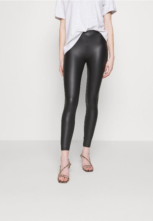 AG I466 NEW LOOK czarne woskowane legginsy 34 Z03