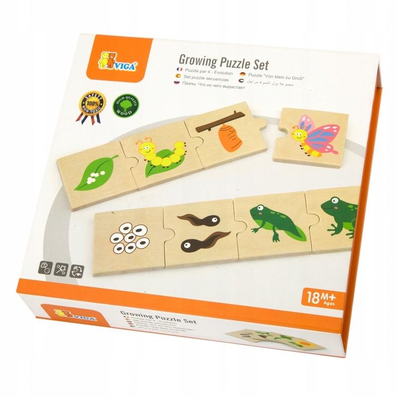 układanka Viga Toys cykl rozwoju życia Montessori