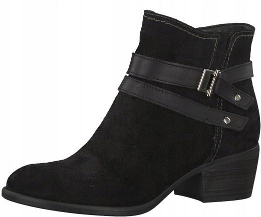 Tamaris buty botki damskie zamszowe czarne rozm 40