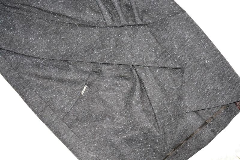 Makalu Fashion House szara spódnica do biura XS
