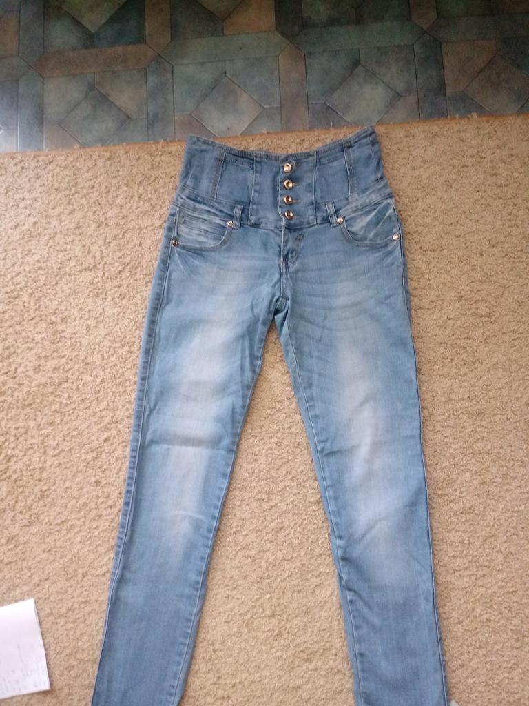 Damskie jeansy WYSOKI STAN light blue rozmiar S\M
