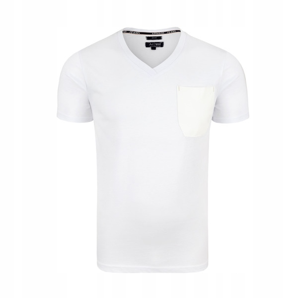 ARMANI JEANS biały t-shirt męski E22 r.L