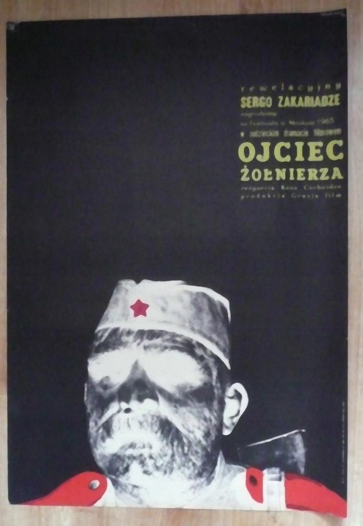 """Plakat filmowy """" Ojciec.."""" 1965"""