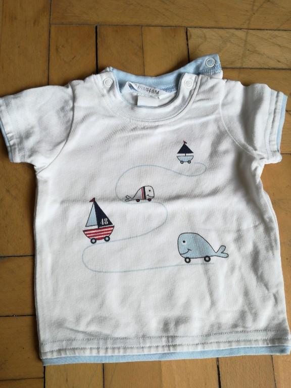 koszulka h&m 56 lato morze wieloryby żaglówki