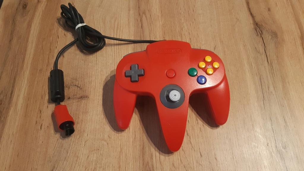 Gamepad Nintendo 64 Czerwony