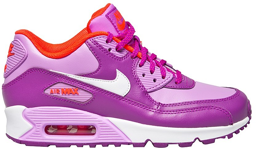 BUTY NIKE AIR MAX 90 LEATHER (GS) 724852 501 FIOLETOWY