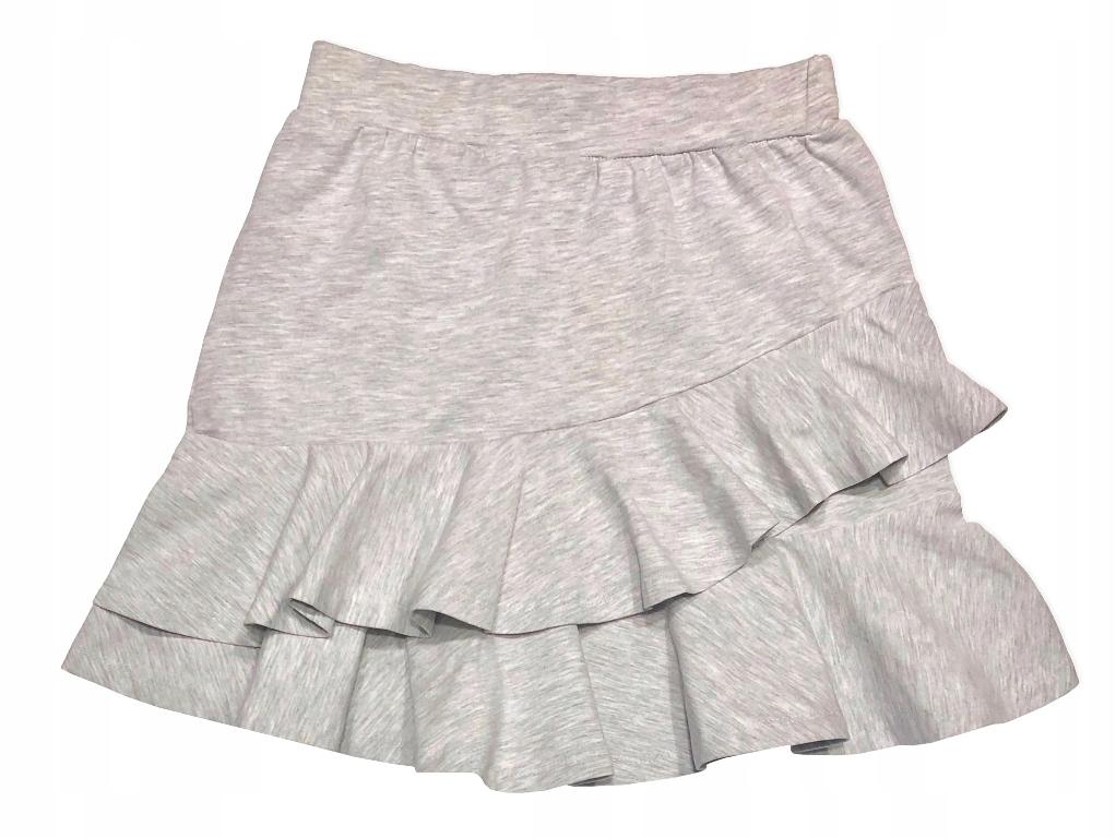 Bawełniana spódnica falbanki *122-128 SZKOŁA