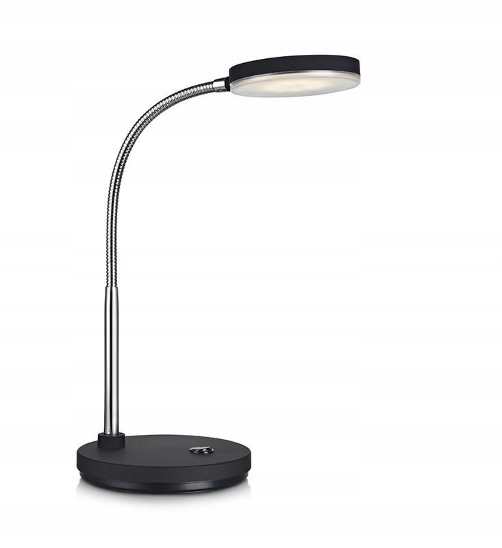 FLEX Lampa biurkowa LED czarna dla ucznia
