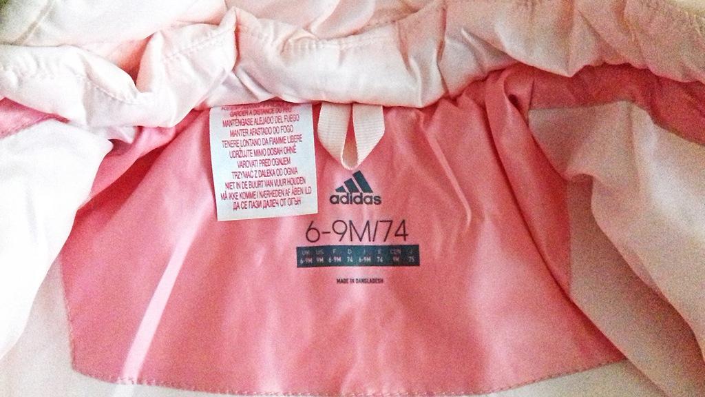 Kurteczka Adidas dla dziewczynki 6 9M 74cm