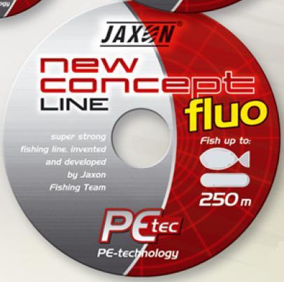 okrągła PLECIONKA JAXON NCL 0,25/250 m FLUO